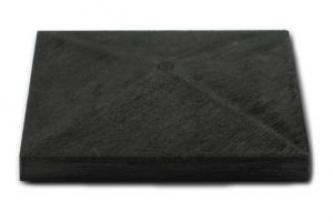 Daszek na słupek 120x120mm Antracyt