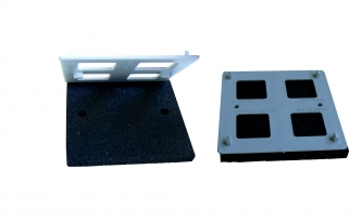 Podkładka gumowa wzmocniona płytka ochronną 13x110x110mm
